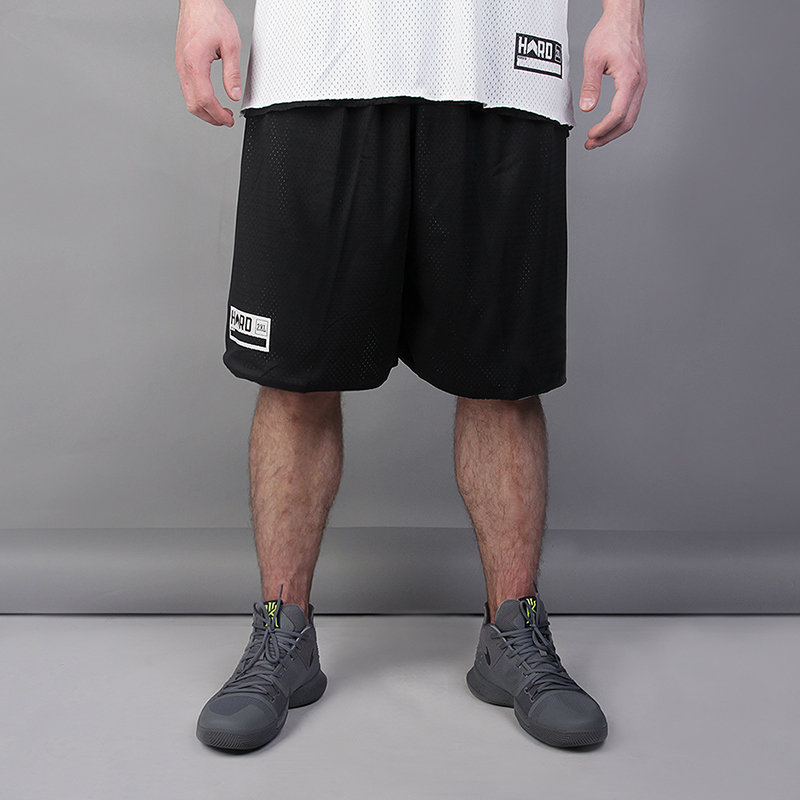 Двухсторонние шорты Hard HRD ShortsШорты<br>Полиэстер<br><br>Цвет: Чёрный, белый<br>Размеры : XL;2XL<br>Пол: Мужской