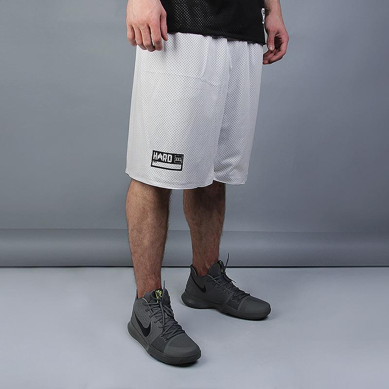 мужской чёрный, белый  двухсторонние шорты hard hrd shorts Hard blk/white-010 - цена, описание, фото 2