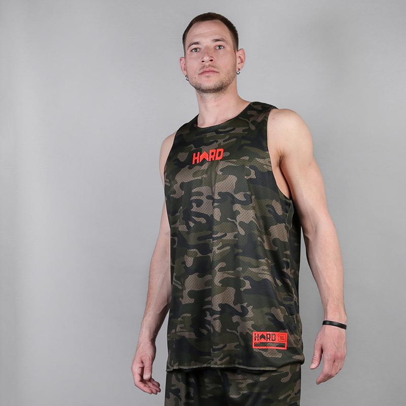 мужскую камуфляж  двухсторонняя майка hard sleeveless hard Forest-camo/grn-300 - цена, описание, фото 2