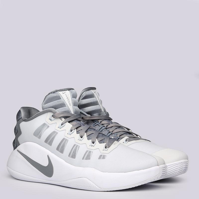 Кроссовки Nike Hyperdunk 2016 LowКроссовки баскетбольные<br>пластик, текстиль, резина<br><br>Цвет: Серый<br>Размеры US: 8;8.5;9;9.5;10;11;12.5;14;15;16<br>Пол: Мужской