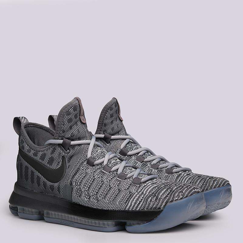 Кроссовки Nike Zoom KD 9Кроссовки баскетбольные<br>текстиль, резина<br><br>Цвет: Серый<br>Размеры US: 10;8;9;9.5<br>Пол: Мужской