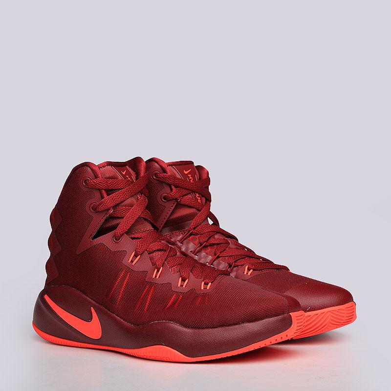 Кроссовки Nike Hyperdunk 2016 GSОбувь детская<br>Текстиль, пластик, резина.<br><br>Цвет: Бордовый<br>Размеры US: 3.5Y<br>Пол: Детский
