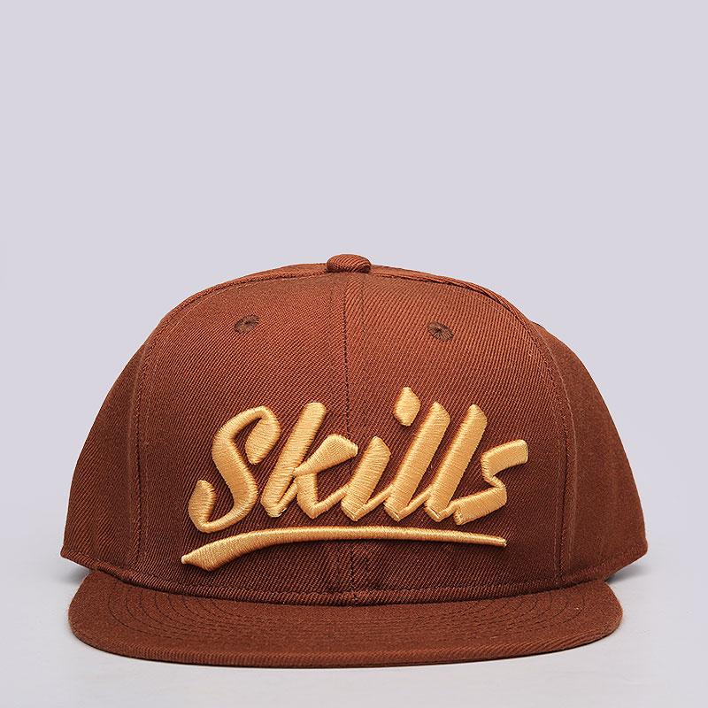 мужскую коричневую  кепка skills skills 03 Skills 03-brown - цена, описание, фото 1