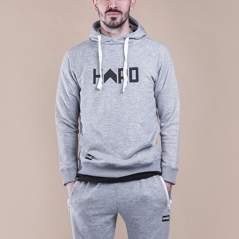 Толстовка Hard Logo HoodyТолстовки свитера<br>Хлопок<br><br>Цвет: Серый<br>Размеры : S;L<br>Пол: Мужской