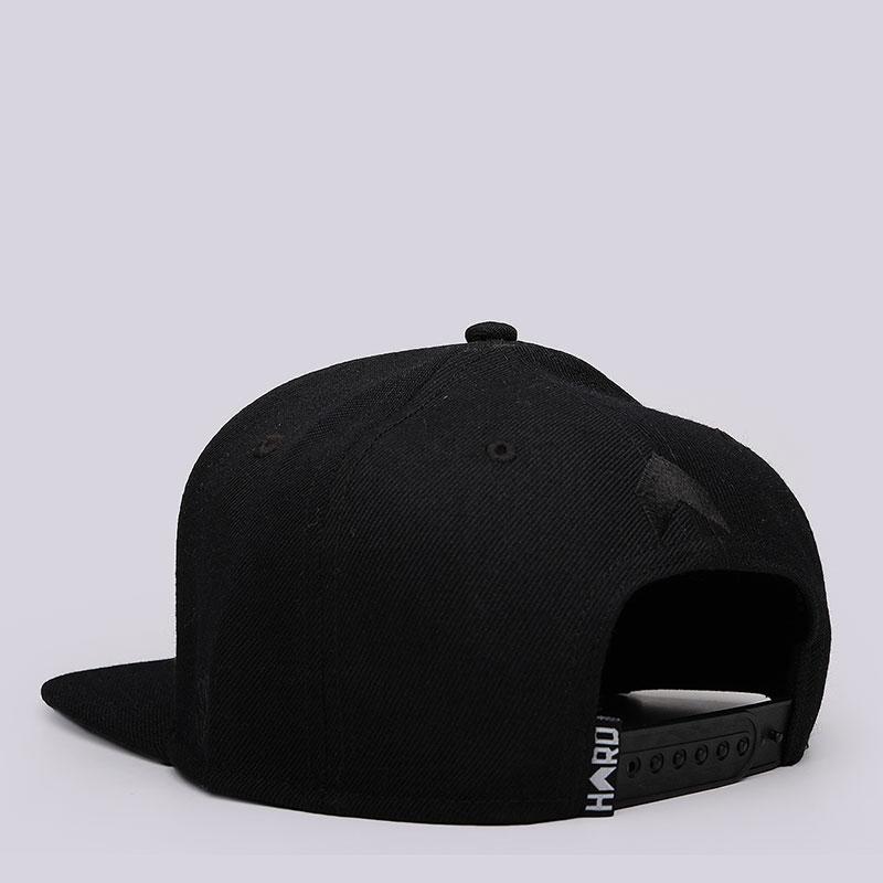 мужскую чёрную  кепка hard logo snapback Hard blk/blk-0015 - цена, описание, фото 3