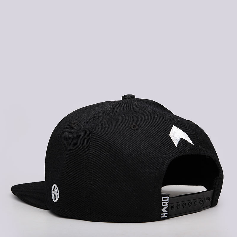 мужскую чёрную, белую  кепка hard logo snapback Hard black/wht-0106 - цена, описание, фото 3