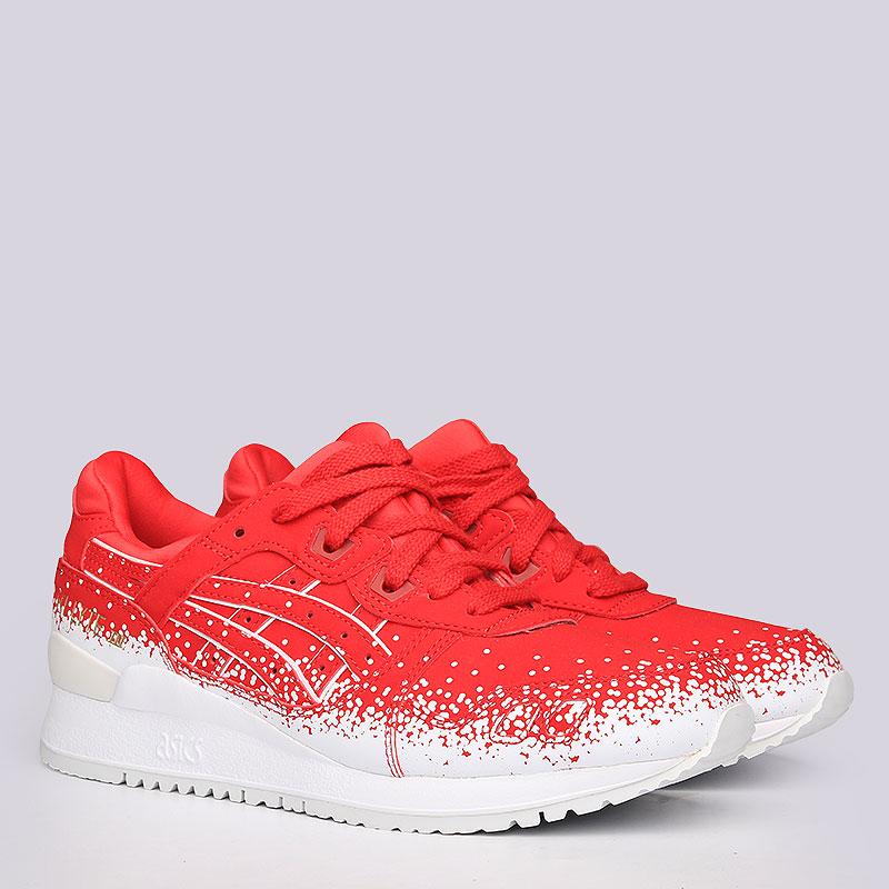 Кроссовки  ASICS Tiger Gel-Lyte IIIКроссовки lifestyle<br>Синтетика, текстиль, резина<br><br>Цвет: Красный, белый<br>Размеры US: 6<br>Пол: Женский