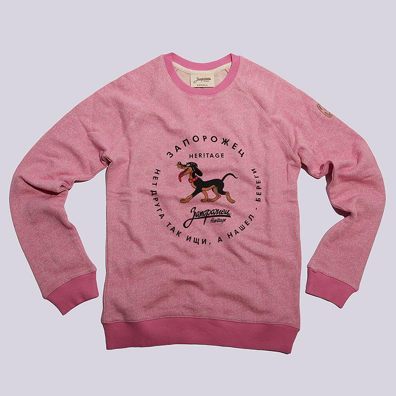 Толстовка Запорожец heritage СобачкаТолстовки свитера<br>Хлопок<br><br>Цвет: Розовый<br>Размеры : XS<br>Пол: Женский