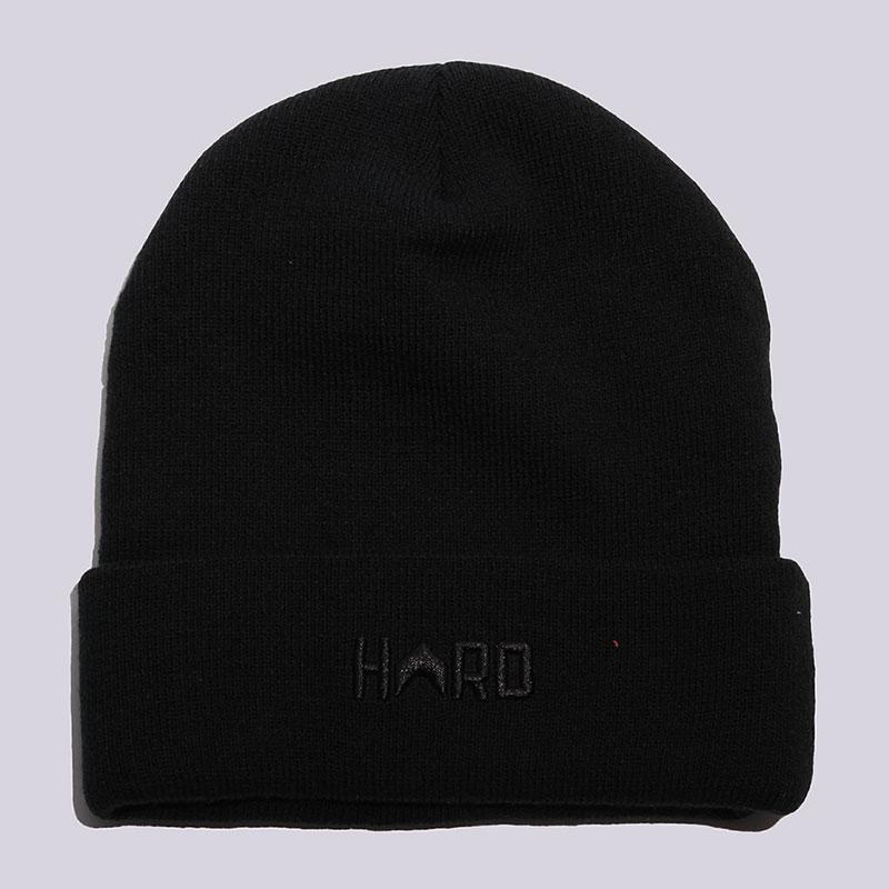 Шапка Hard HRD BeanieШапки<br>Акрил<br><br>Цвет: Чёрный<br>Размеры : OS