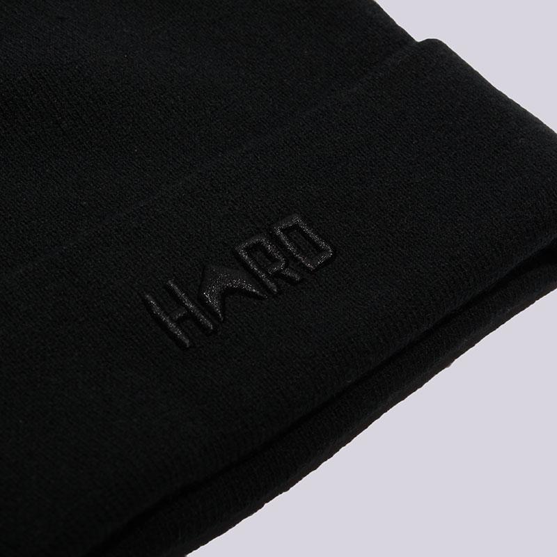 чёрную   шапка hard hrd beanie hard blk/blk-0011 - цена, описание, фото 2
