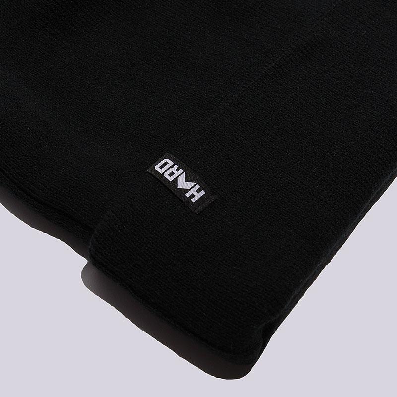 чёрную   шапка hard hrd beanie hard blk/blk-0011 - цена, описание, фото 3