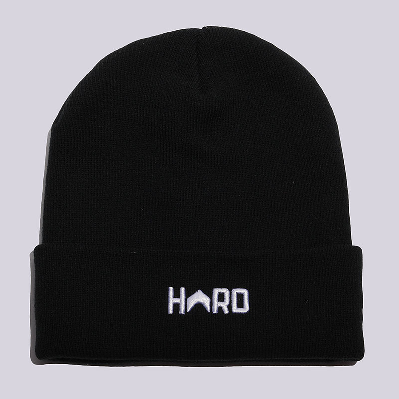 Шапка Hard HRD BeanieШапки<br>Акрил<br><br>Цвет: Черный, белый<br>Размеры : OS