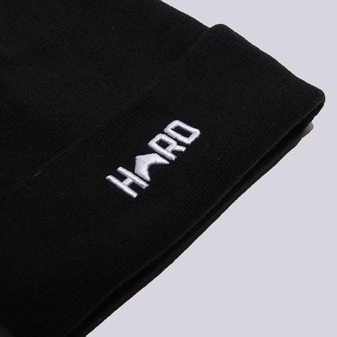черную, белую  шапка hard hrd beanie hard blk/wht-0102 - цена, описание, фото 2