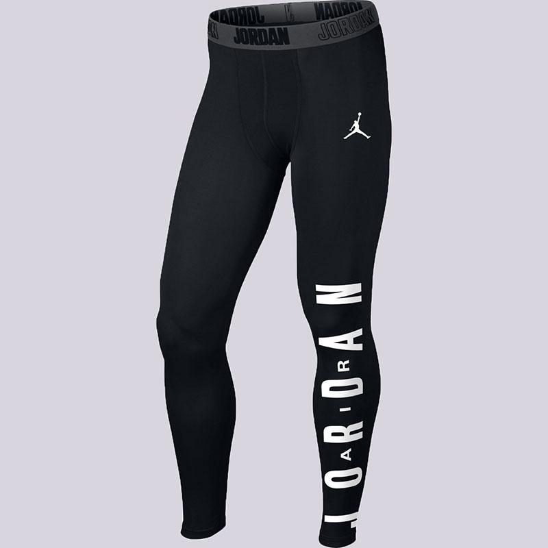 Брюки Jordan Classic AJ Comp TightКомпрессионное белье<br>Полиэстер, эластан<br><br>Цвет: Чёрный<br>Размеры US: S<br>Пол: Мужской