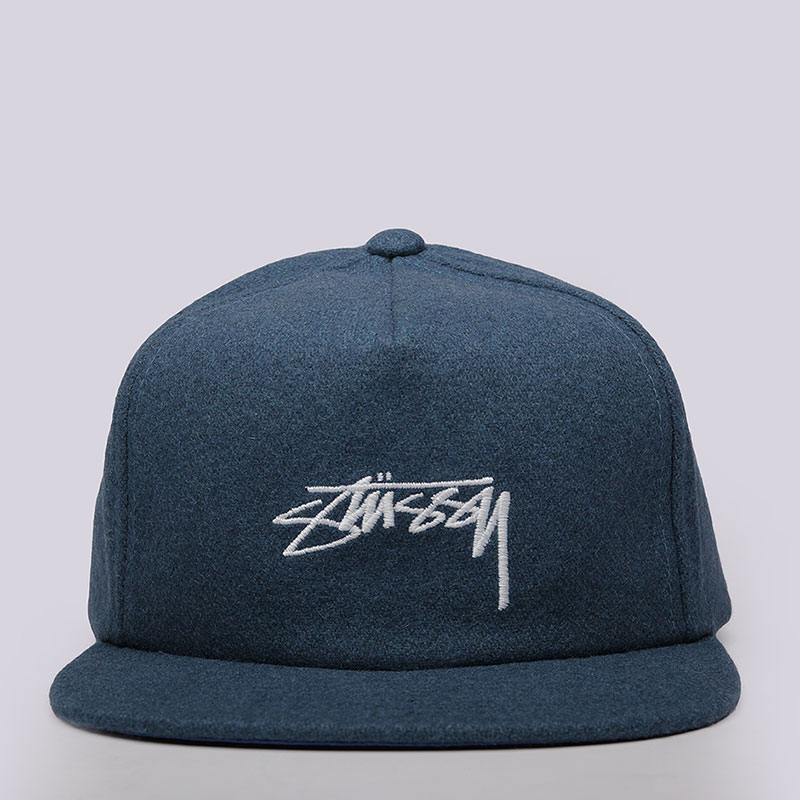 ке-пка-stussy-smooth-stock-melton-strapback