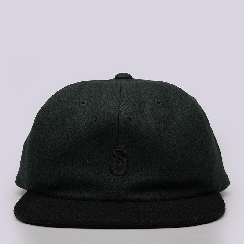 Кепка Stussy Crown S Wool CapКепки<br>65% шерсть, 20% нейлон, 15% акрил<br><br>Цвет: Зелёный<br>Размеры US: OS