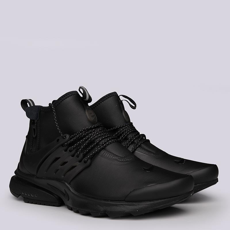 2ec0d589bf3e мужские черные кроссовки nike air presto mid utility 859524-003 - цена,  описание,