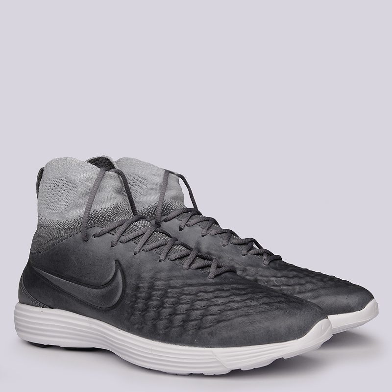 Кроссовки Nike Lunar Magista II FKКроссовки lifestyle<br>Текстиль, резина<br><br>Цвет: Серый<br>Размеры US: 8;8.5;9;9.5;10.5;11;11.5<br>Пол: Женский