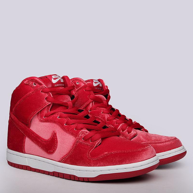 Кроссовки Nike SB Dunk High PremiumКроссовки lifestyle<br>Текстиль, резина<br><br>Цвет: Красный<br>Размеры US: 4.5;5.5;6;6.5;7<br>Пол: Мужской