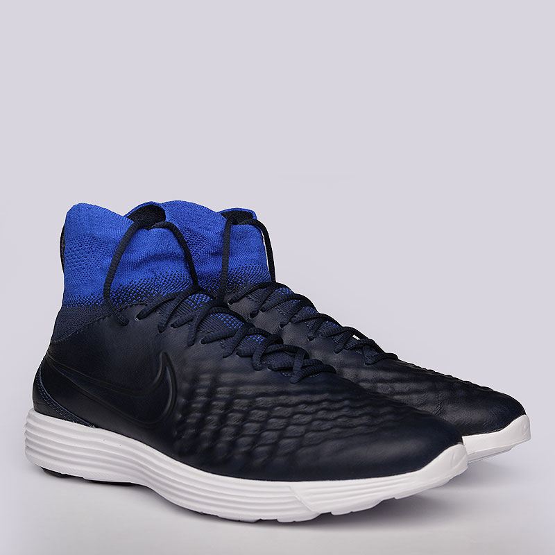 Кроссовки Nike Sportswear Lunar Magista II FKКроссовки lifestyle<br>Текстиль, резина<br><br>Цвет: Синий<br>Размеры US: 8;8.5;9;9.5;10;10.5;11;11.5;12<br>Пол: Мужской