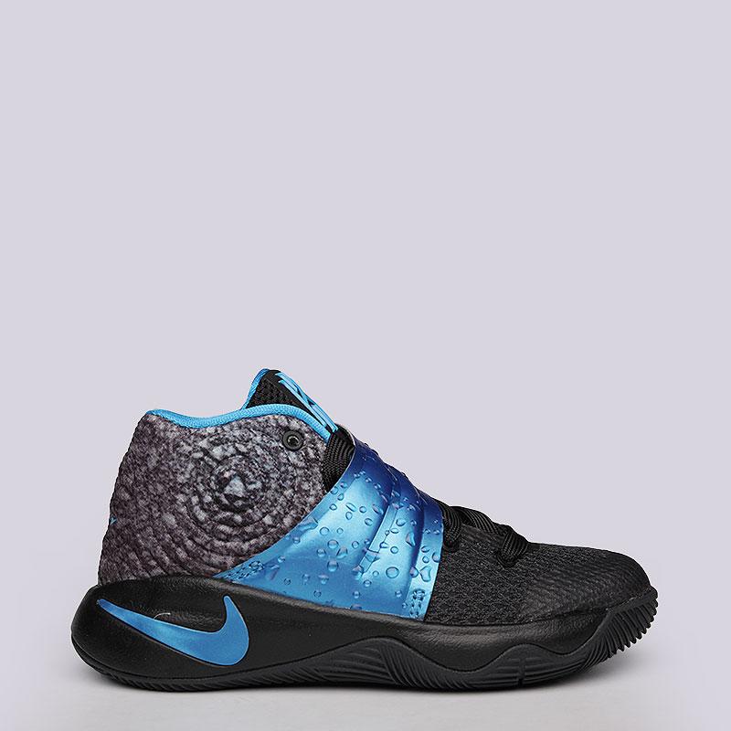 детские черные, серые, голубые  кроссовки nike kyrie 2 ps 827280-005 - цена, описание, фото 2