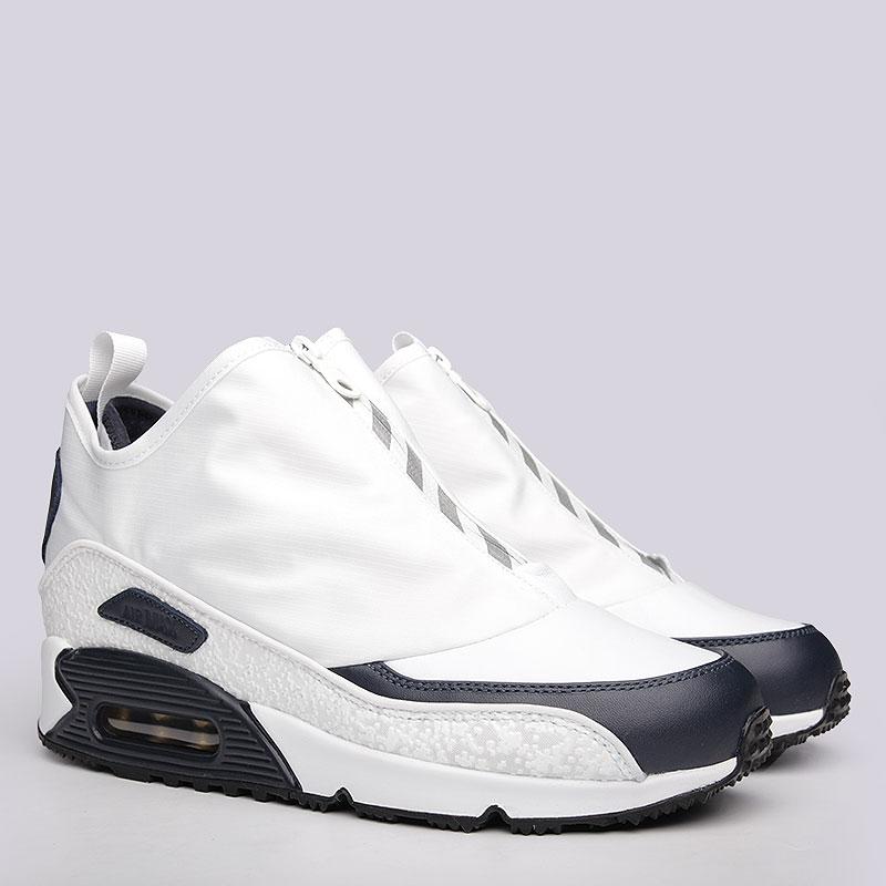 мужские белые, синие кроссовки nike air max 90 utility 858956-100 - цена, 2e10668eacf