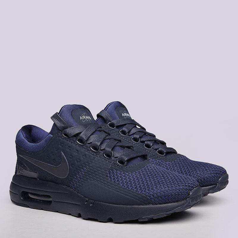 Кроссовки  Nike Sportswear Air Max Zero QSКроссовки lifestyle<br>Пластик, текстиль, резина<br><br>Цвет: Синий<br>Размеры US: 6;6.5;7;7.5;8;8.5;9;9.5;10;10.5;11;11.5;12;12.5<br>Пол: Мужской