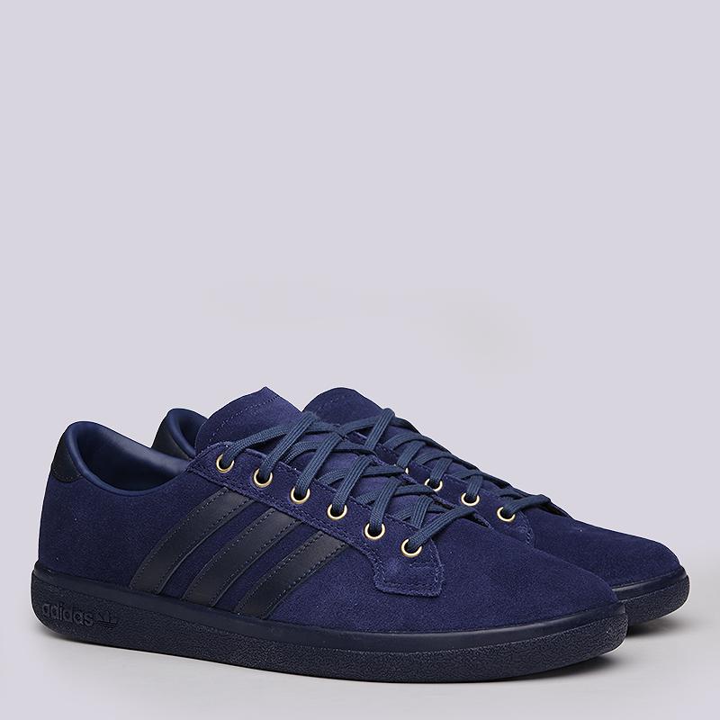 Кроссовки  adidas Bulhill SPZLКроссовки lifestyle<br>Кожа, текстиль, резина<br><br>Цвет: Синий<br>Размеры UK: 11.5<br>Пол: Мужской