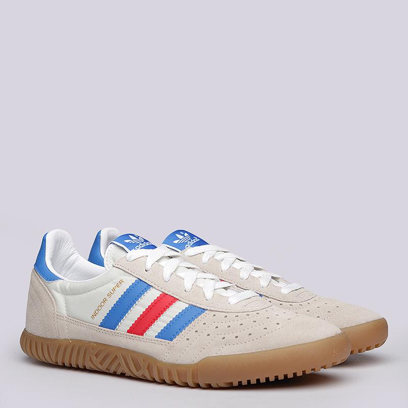 Кроссовки  adidas Originals Indoor Super SPZLКроссовки lifestyle<br>Кожа, текстиль, резина<br><br>Цвет: Бежевый<br>Размеры UK: 8;8.5;9;9.5;10;10.5;11<br>Пол: Мужской