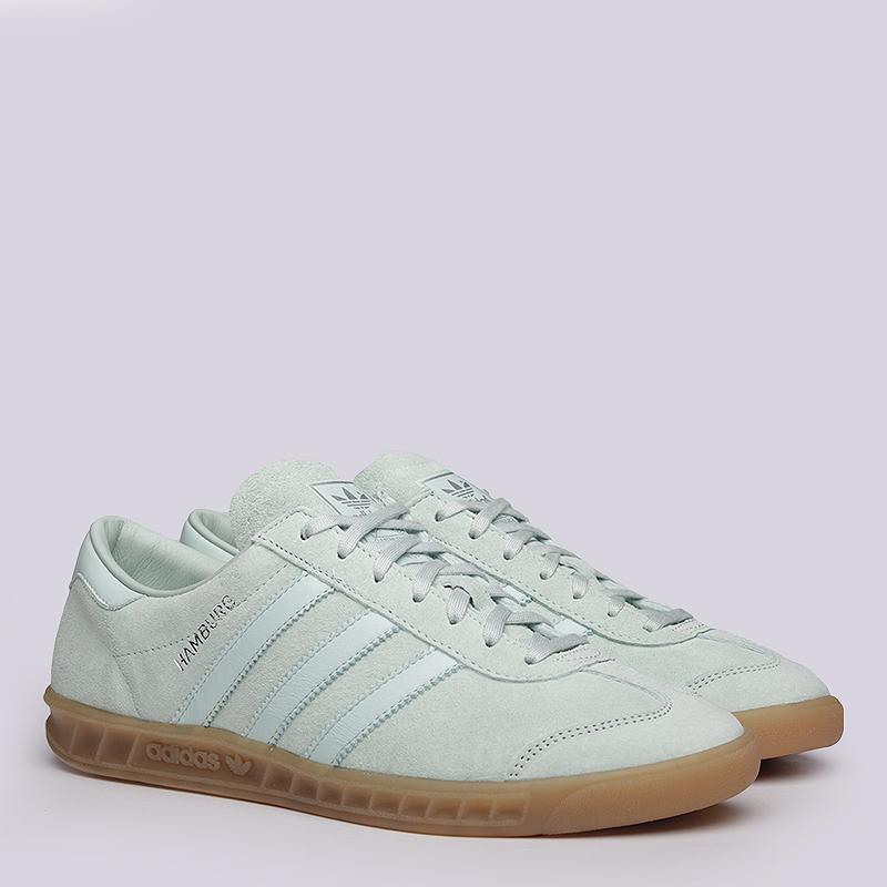 Кроссовки  adidas Originals HamburgКроссовки lifestyle<br>Кожа, текстиль, резина<br><br>Цвет: Мятный<br>Размеры UK: 9;9.5;11.5<br>Пол: Мужской