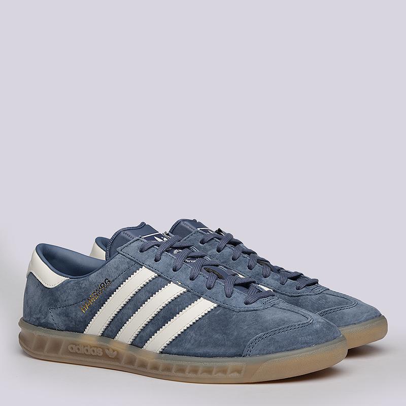 Кроссовки  adidas Originals Hamburg WКроссовки lifestyle<br>Кожа, текстиль, резина<br><br>Цвет: Синий<br>Размеры UK: 5.5;7<br>Пол: Женский