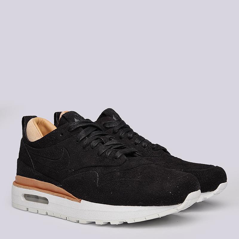женские черные  кроссовки nike wmns air max 1 royal 847672-001 - цена, описание, фото 1