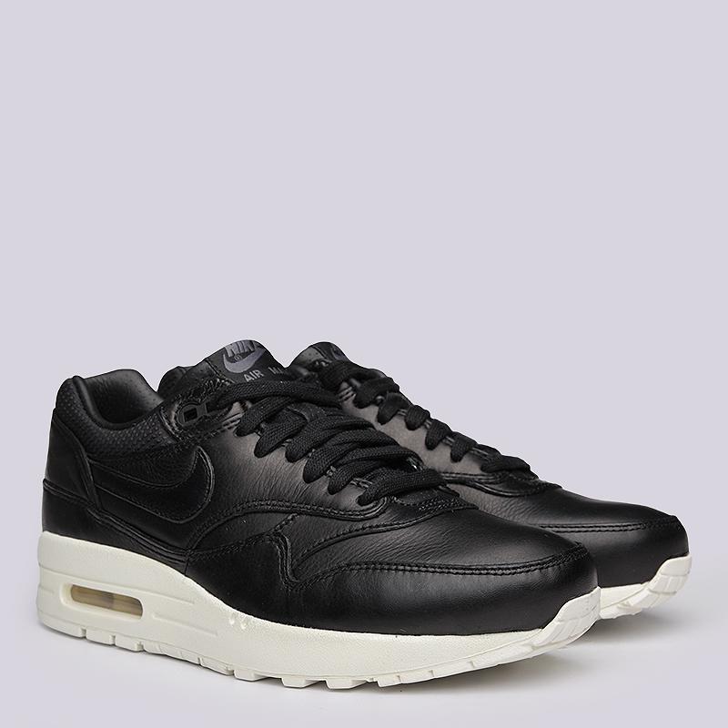 Кроссовки Nike WMNS Air Max 1 PinnacleКроссовки lifestyle<br>кожа, текстиль, резина<br><br>Цвет: Черный<br>Размеры US: 6<br>Пол: Женский