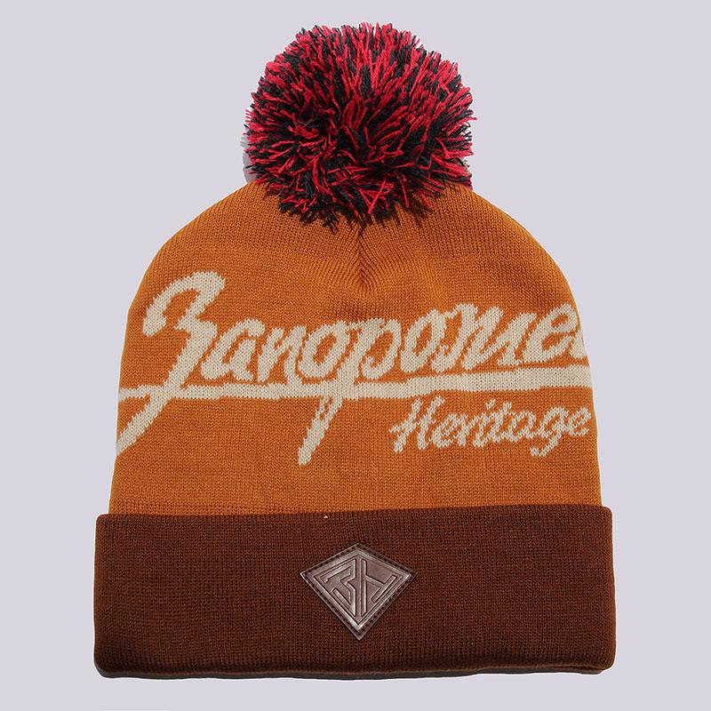 Шапка Запорожец heritage Zap Classic Logo BeanieШапки<br>100% акрил<br><br>Цвет: Коричневый<br>Размеры : OS