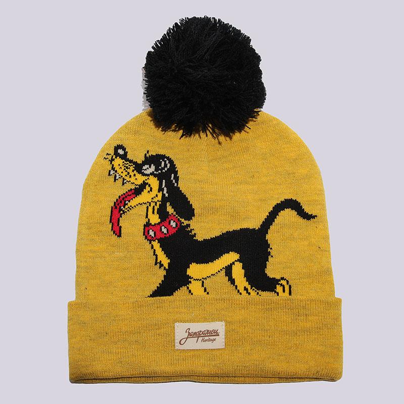 Шапка Запорожец heritage Big Doggy BeanieШапки<br>100% акрил<br><br>Цвет: Желтый<br>Размеры : OS