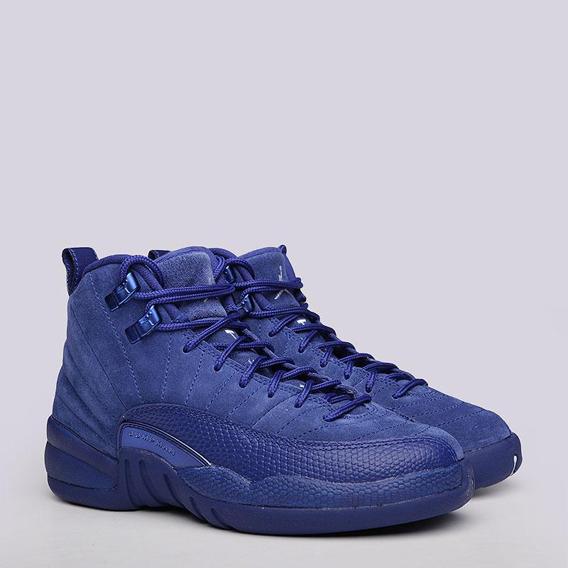 Кроссовки Jordan Retro XII BGКроссовки lifestyle<br>Кожа, текстиль, резина<br><br>Цвет: Синий<br>Размеры US: 4Y<br>Пол: Женский