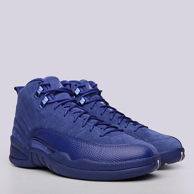 Кроссовки Jordan Retro XIIКроссовки lifestyle<br>Кожа, текстиль, резина<br><br>Цвет: Синий<br>Размеры US: 13<br>Пол: Мужской