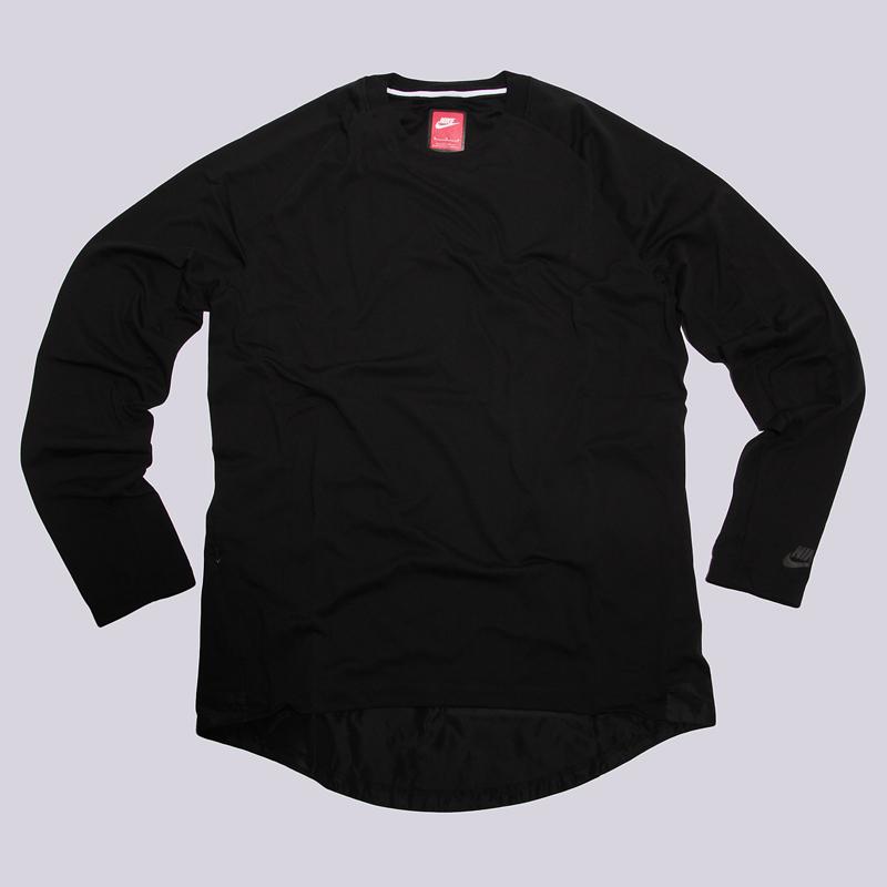 Толстовка Nike BND Top LS KNTТолстовки свитера<br>76% полиэстер, 24% хлопок<br><br>Цвет: Чёрный<br>Размеры US: L<br>Пол: Мужской