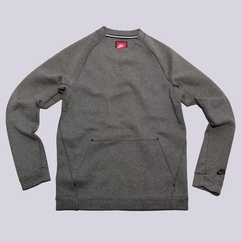 Толстовка Nike sportswear TCH FLC CRW LSТолстовки свитера<br>66% хлопок, 34% полиэстер<br><br>Цвет: Серый<br>Размеры US: S;M;L;XL<br>Пол: Мужской