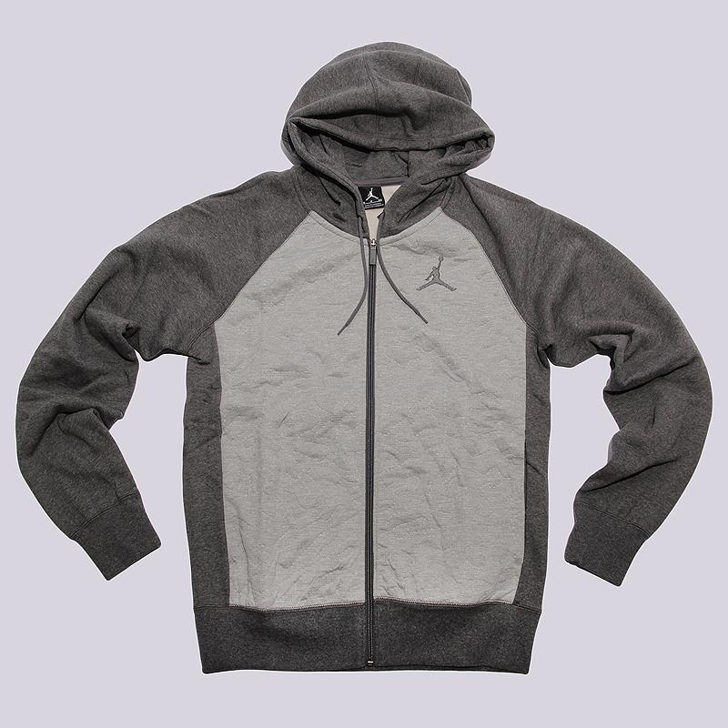 Толстовка Jordan 3 Fleece FZ HoodieТолстовки свитера<br>80% хлопок, 20% синтетика<br><br>Цвет: Серый<br>Размеры US: S;M;L<br>Пол: Мужской