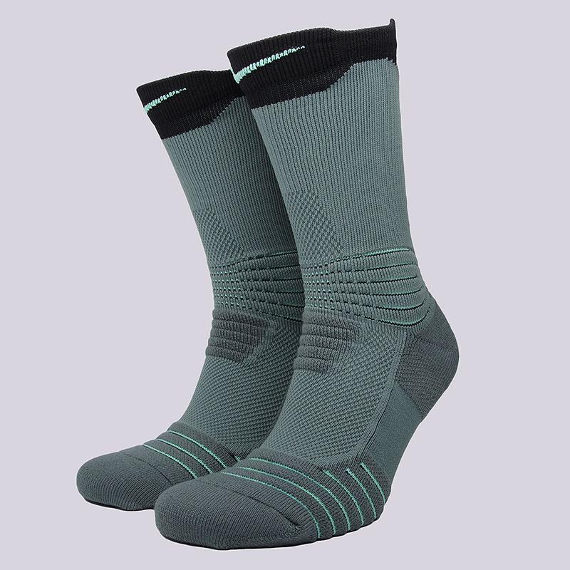 Носки Nike Sportswear Elite Versatility CrewНоски<br>58% нейлон, 29% полиэстер, 9% хлопок, 4%&amp;nbsp;эластан<br><br>Цвет: Зеленый<br>Размеры US: M;L;XL<br>Пол: Мужской