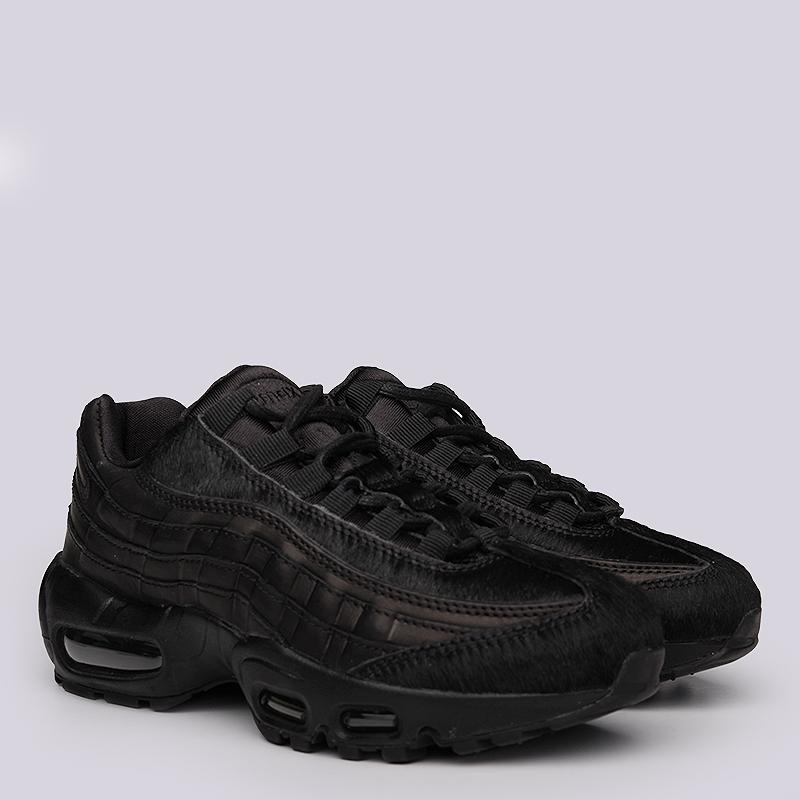 Кроссовки Nike Sportswear WMNS Air Max 95 PRMКроссовки lifestyle<br>Кожа, текстиль, резина<br><br>Цвет: Черный<br>Размеры US: 6<br>Пол: Женский