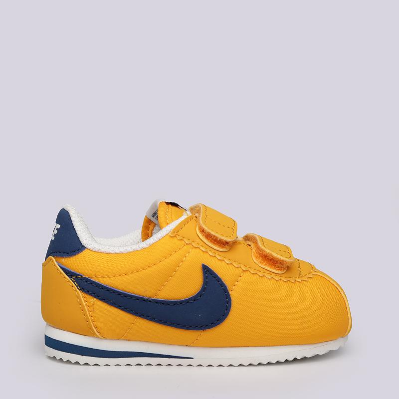 d5755345 детские желтые, синие кроссовки nike cortez nylon tdv 749497-700 - цена,  описание