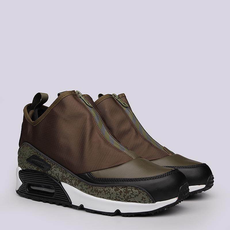 Кроссовки Nike sportswear Air Max 90 UtilityКроссовки lifestyle<br>Кожа, текстиль, резина<br><br>Цвет: Коричневый, зеленый<br>Размеры US: 8;8.5;10;10.5;11;11.5;12<br>Пол: Мужской