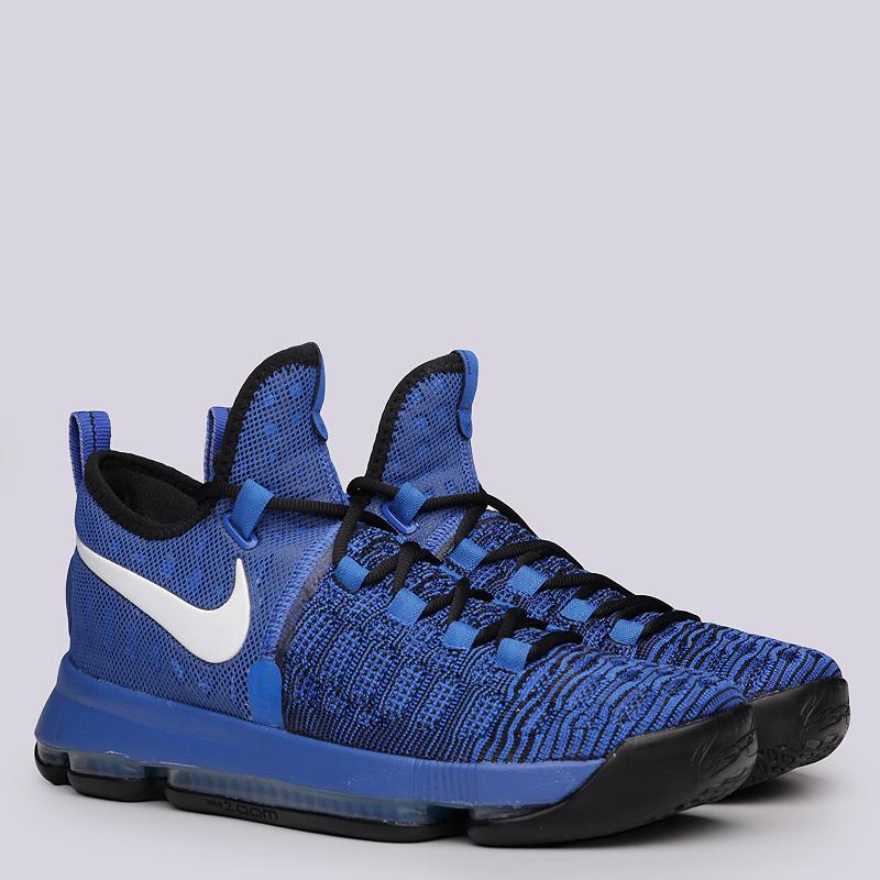 Кроссовки Nike Zoom KD 9Кроссовки баскетбольные<br>Текстиль, синтетика, резина<br><br>Цвет: Синий<br>Размеры US: 7.5;8;8.5;10.5;16<br>Пол: Мужской