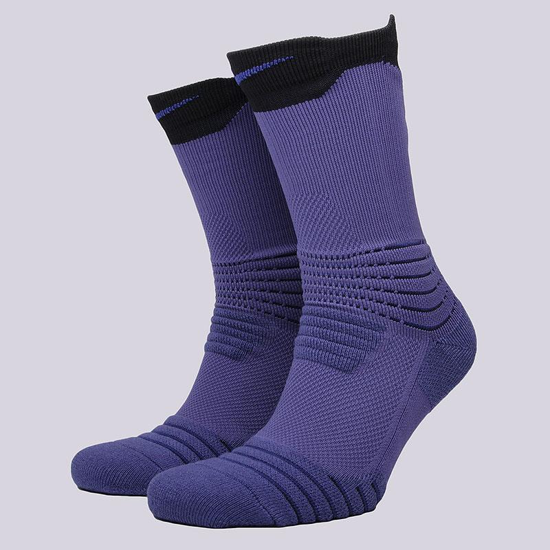 Носки Nike U NK ELT Versa CrewНоски<br>58% нейлон, 29% полиэстер, 9% хлопок, 4%&amp;nbsp;эластан<br><br>Цвет: Фиолетовый<br>Размеры US: M;L;XL<br>Пол: Мужской
