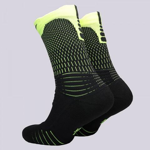 мужские черные, салатовые  носки nike u nk elt versa crew SX5372-011 - цена, описание, фото 2