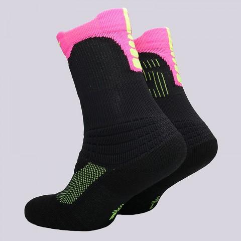 мужские черные, розовые  носки nike elite kd versatility crew socks SX5375-010 - цена, описание, фото 2
