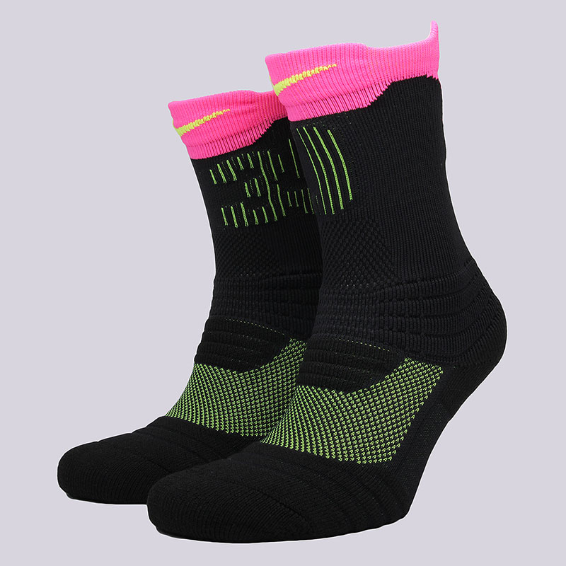 мужские черные, розовые  носки nike elite kd versatility crew socks SX5375-010 - цена, описание, фото 1