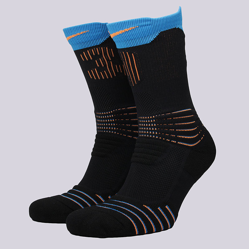 Носки Nike Sportswear Elite KD Versatility Crew SocksНоски<br>57% нейлон, 28% полиэстер, 8% хлопок, 7%эластан<br><br>Цвет: Черный, голубой<br>Размеры US: M;L;XL<br>Пол: Мужской